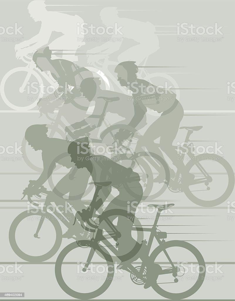 Cycle race illustration vector art illustration