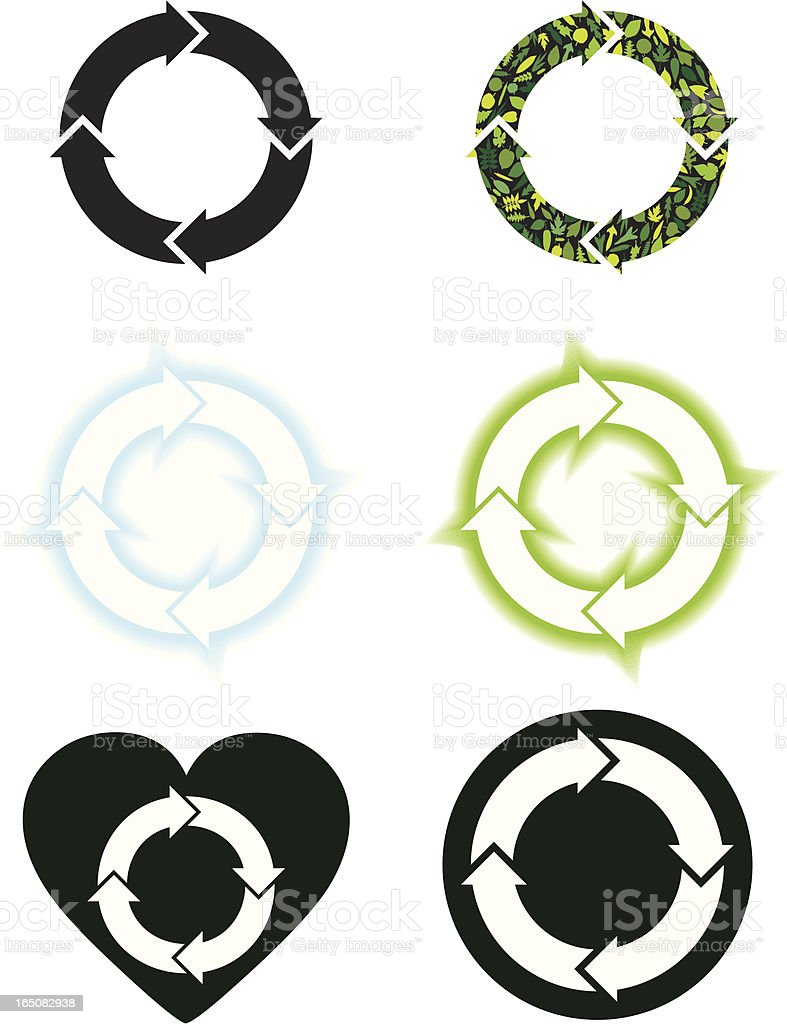 Cycle Symbols vector art illustration