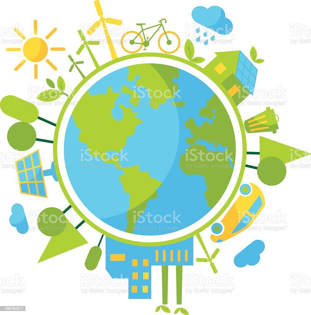 Cyclic ecology concept vector art illustration