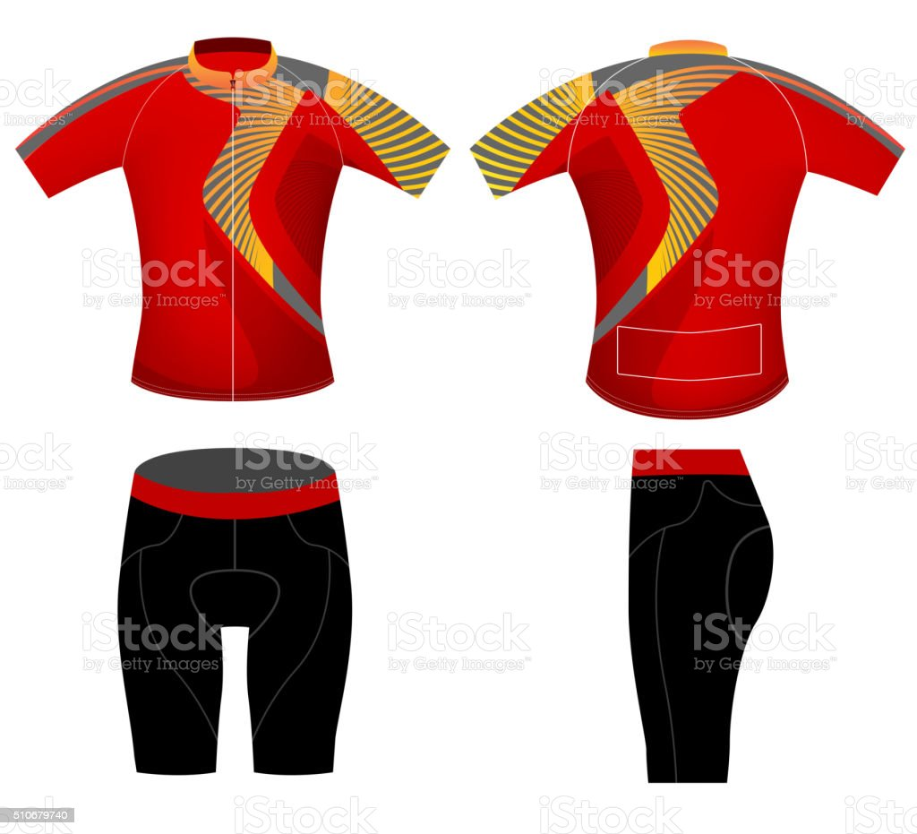 Cycling clothing style vector art illustration
