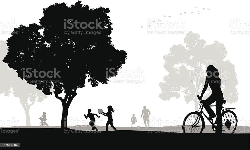 Cycling Park royalty-free stock vector art