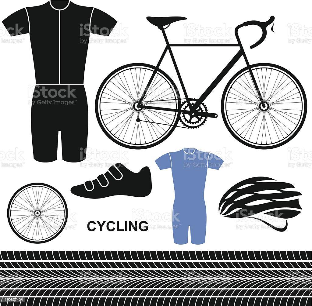 Cycling. Set royalty-free stock vector art