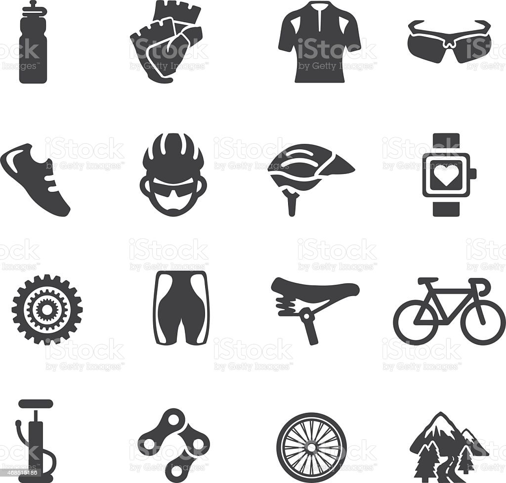 Cycling Silhouette icons | EPS10 vector art illustration