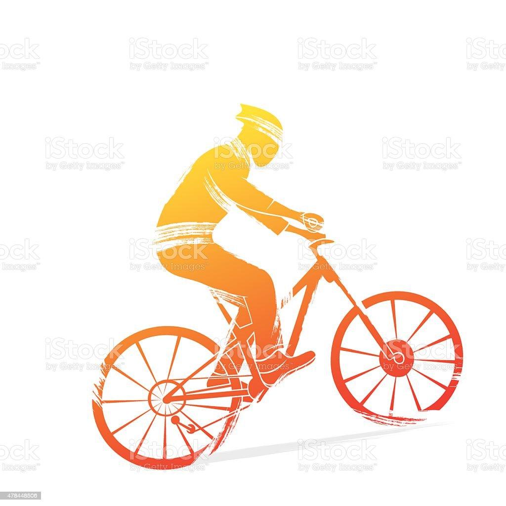 cycling sports design vector vector art illustration