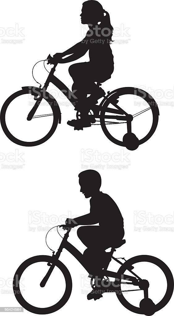 Cycling royalty-free stock vector art