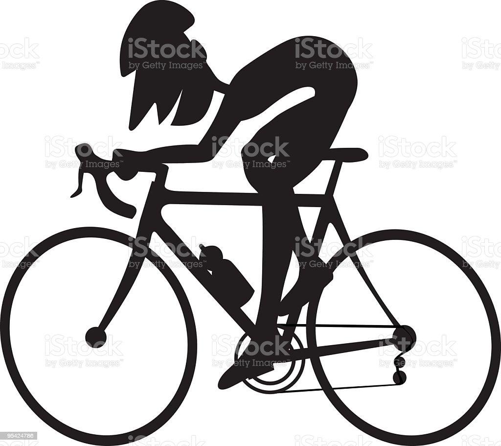 Cycling royalty-free stock vector art