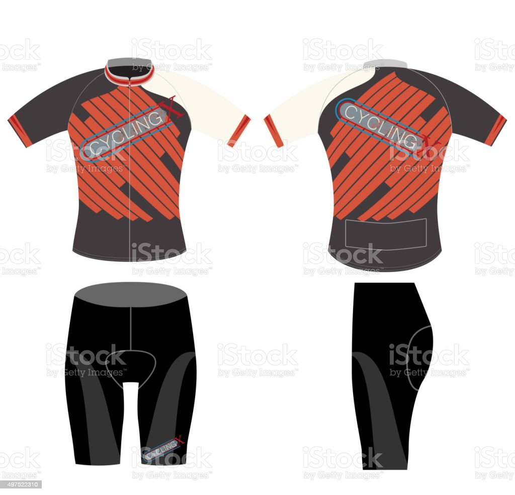 Cycling vest high extreme vector art illustration