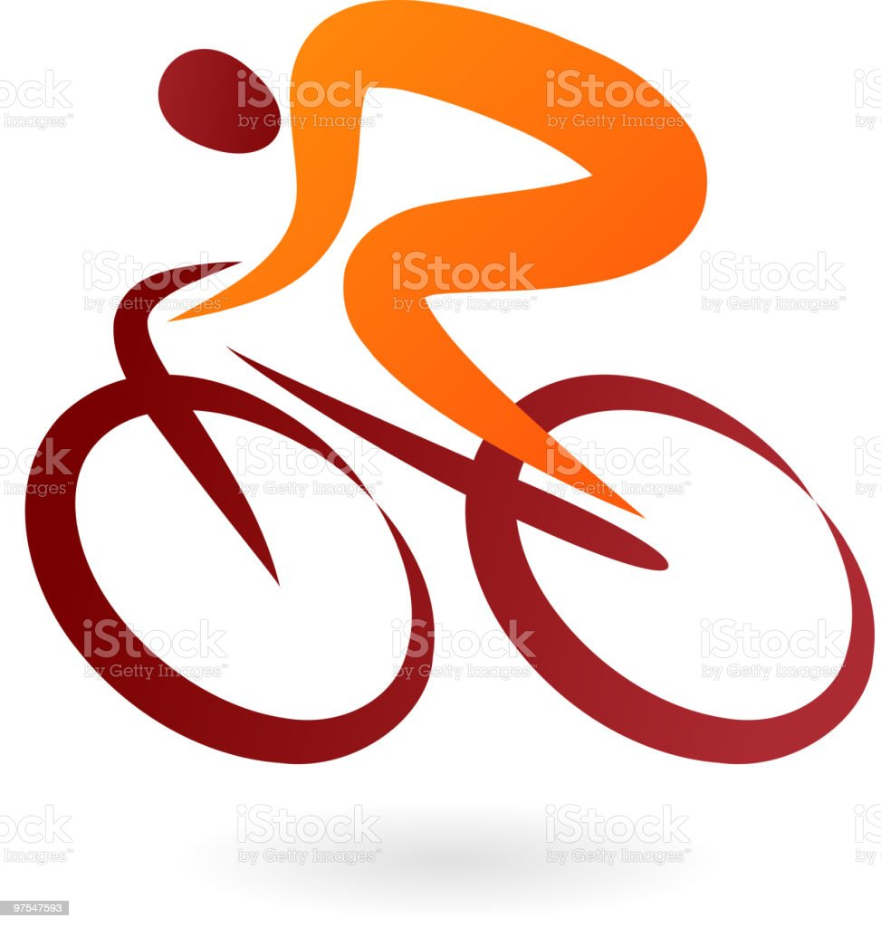 Cyclist icons royalty-free stock vector art