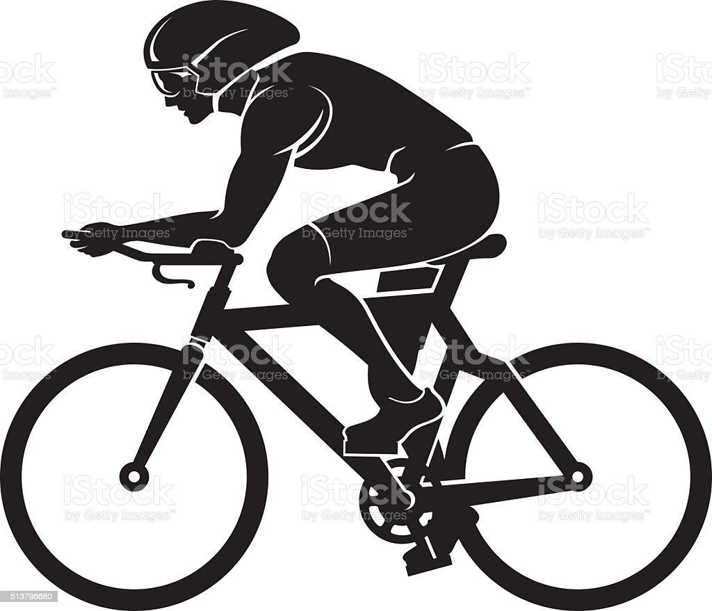 Cyclist Silhouette vector art illustration
