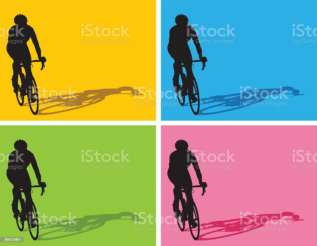 cyclist royalty-free stock vector art