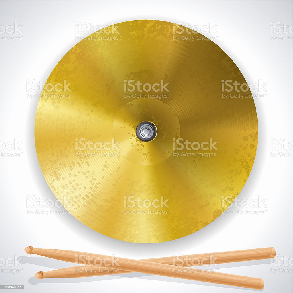 Cymbal vector art illustration