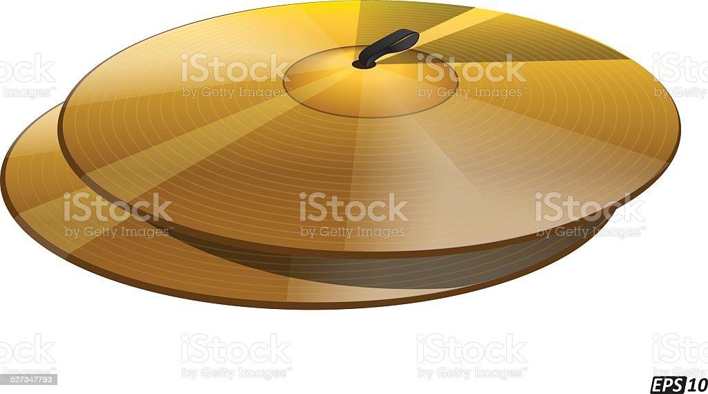 Cymbals vector art illustration