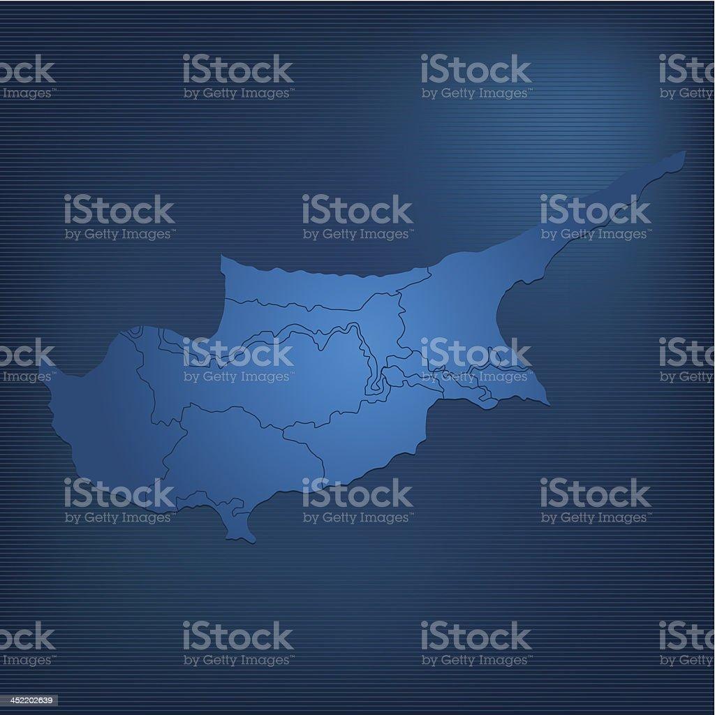 Cyprus map dark royalty-free stock vector art