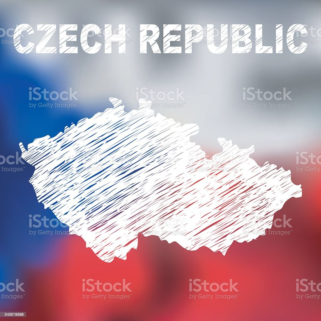 Czech Abstract Map vector art illustration