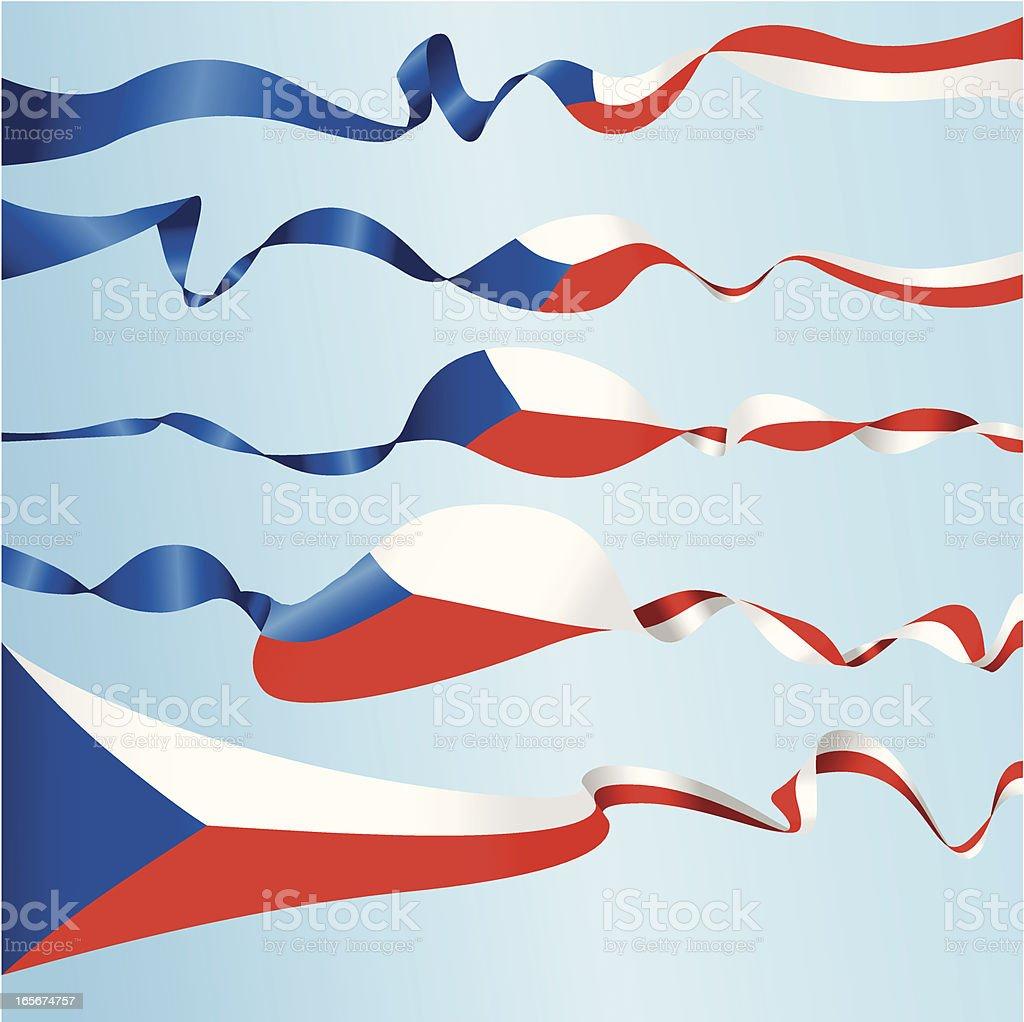 Czech Banners royalty-free stock vector art