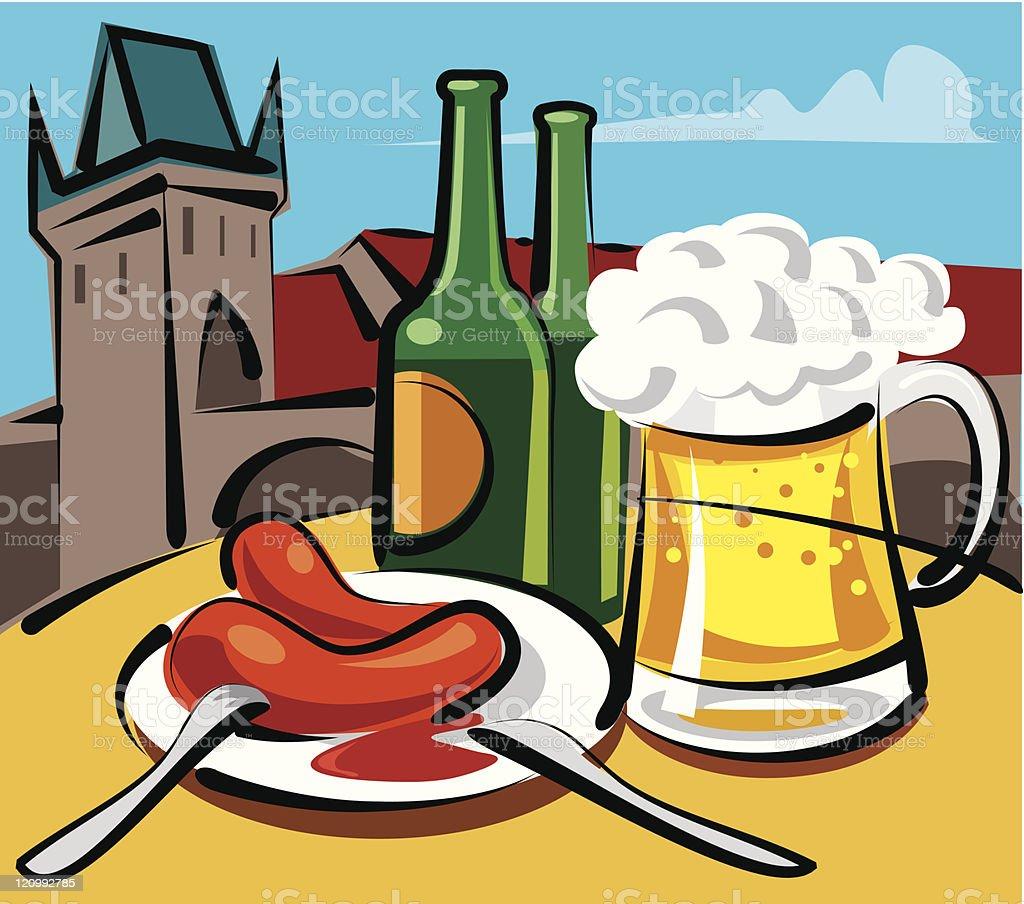 czech beer royalty-free stock vector art