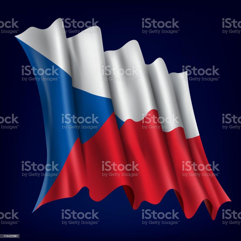 Czech, Czechs Flag royalty-free stock vector art