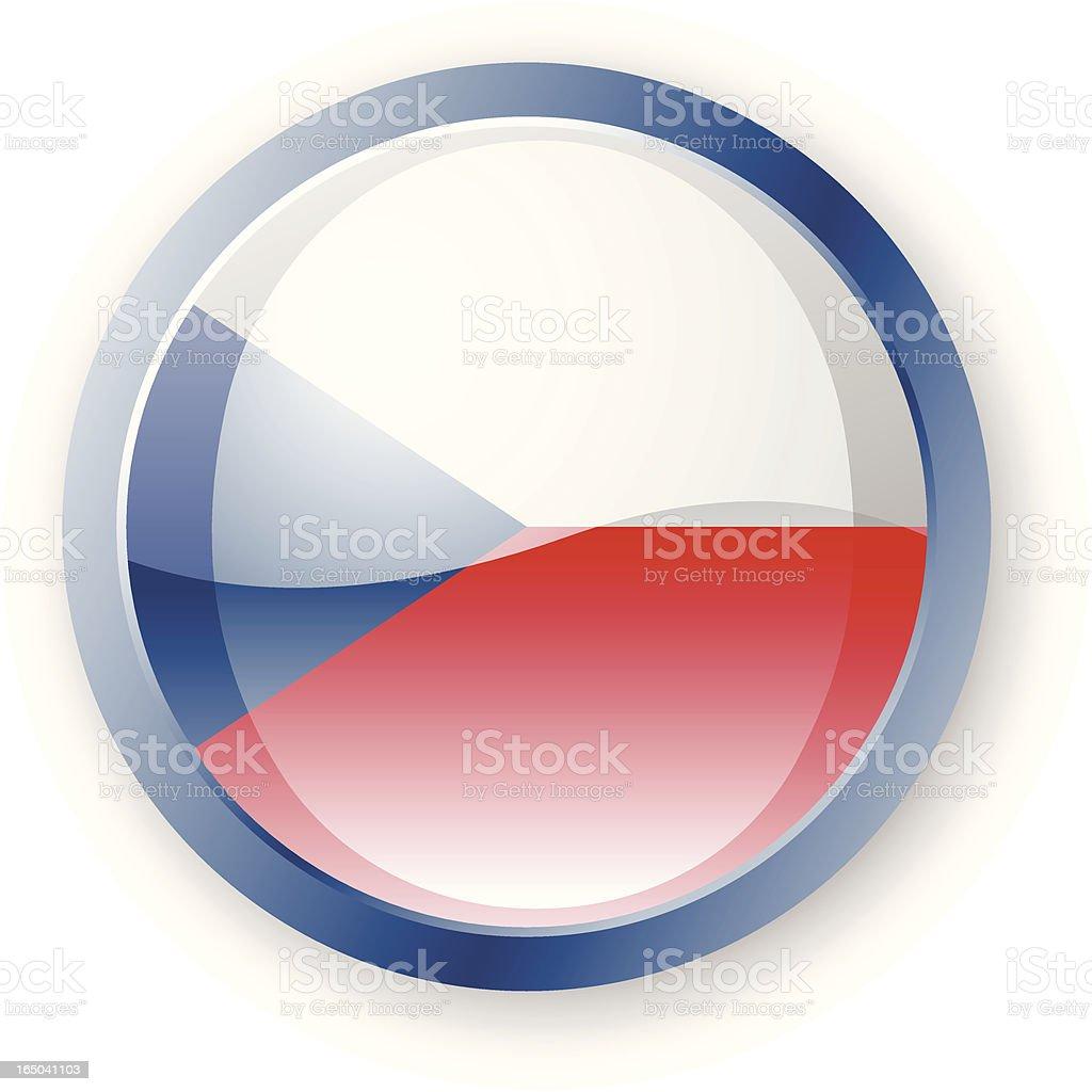 Czech Flag Icon royalty-free stock vector art