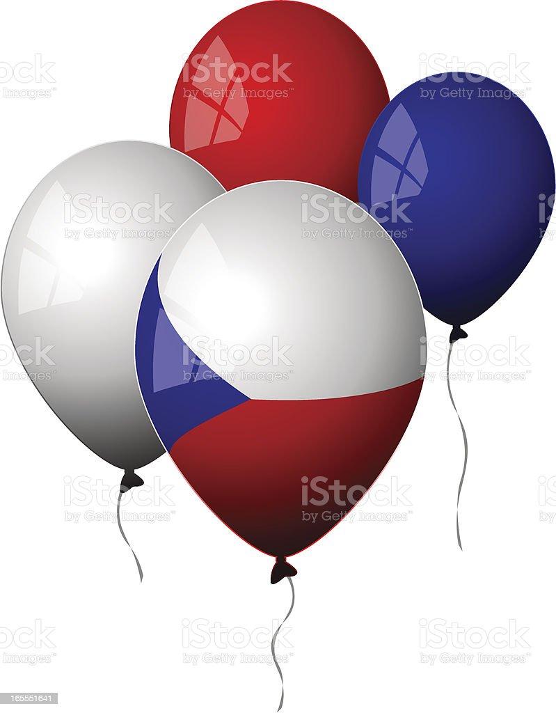 Czech Republic - Balloons royalty-free stock vector art