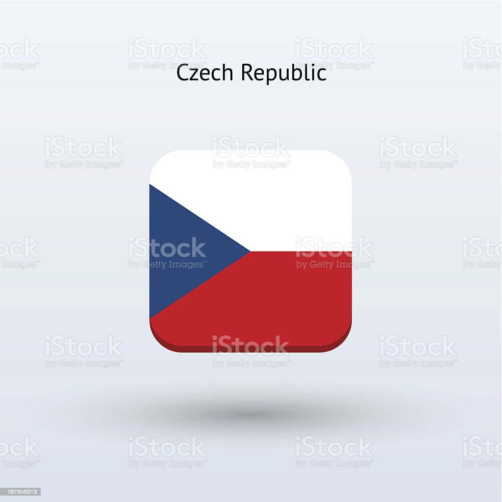 Czech Republic Flag Icon royalty-free stock vector art