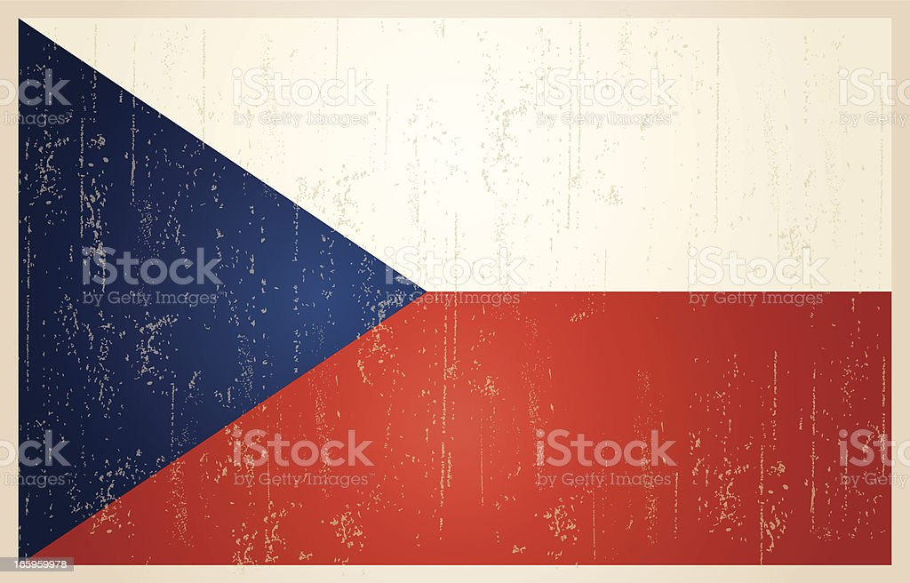 Czech Republic grunge vintage flag royalty-free stock vector art