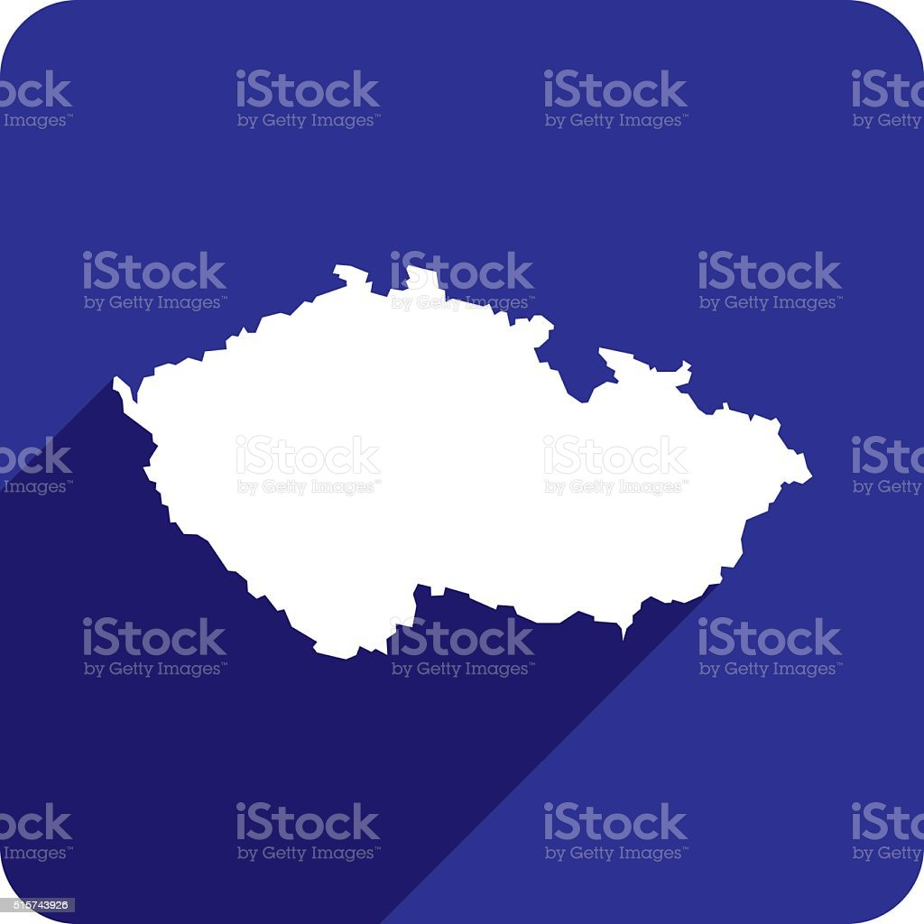 Czech Republic Icon Silhouette vector art illustration