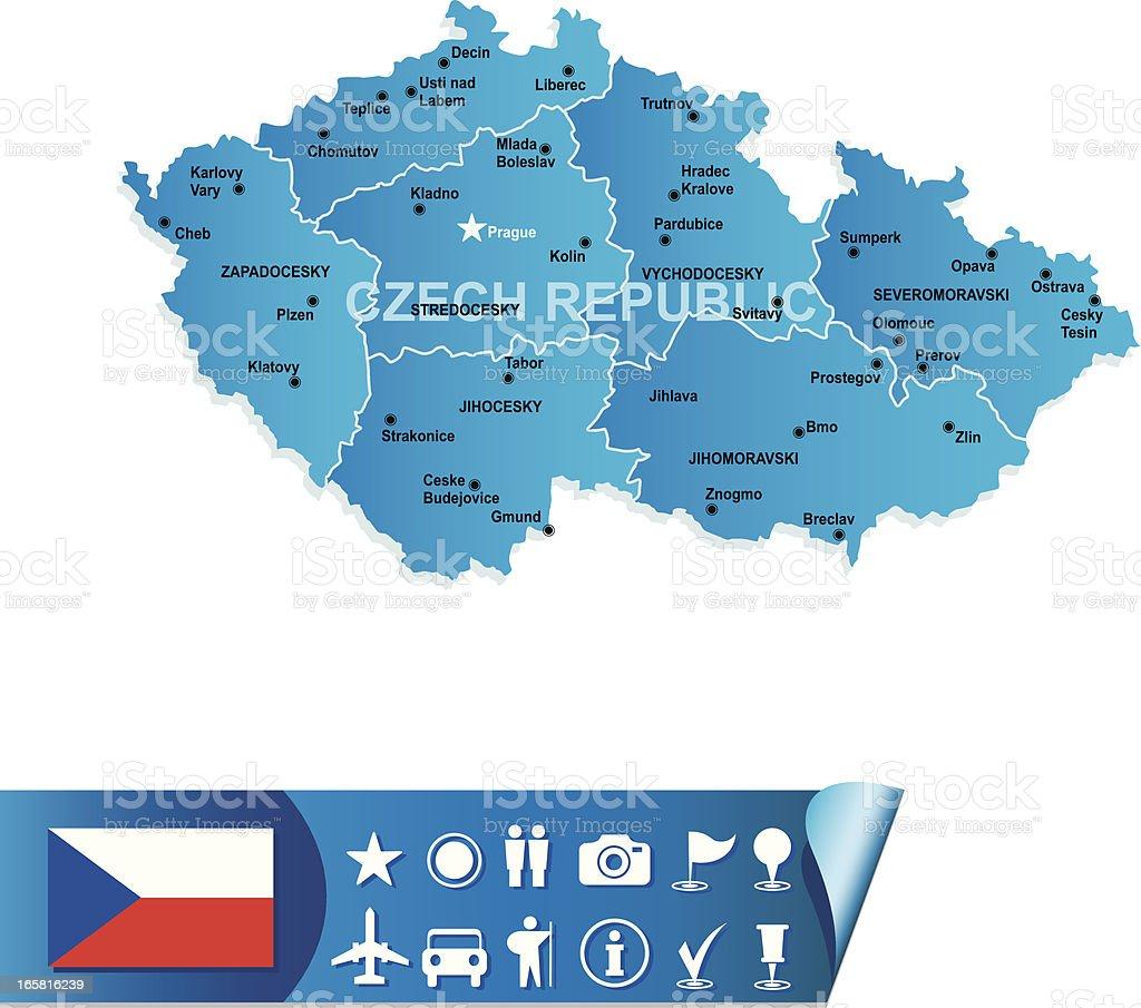 Czech Republic map royalty-free stock vector art