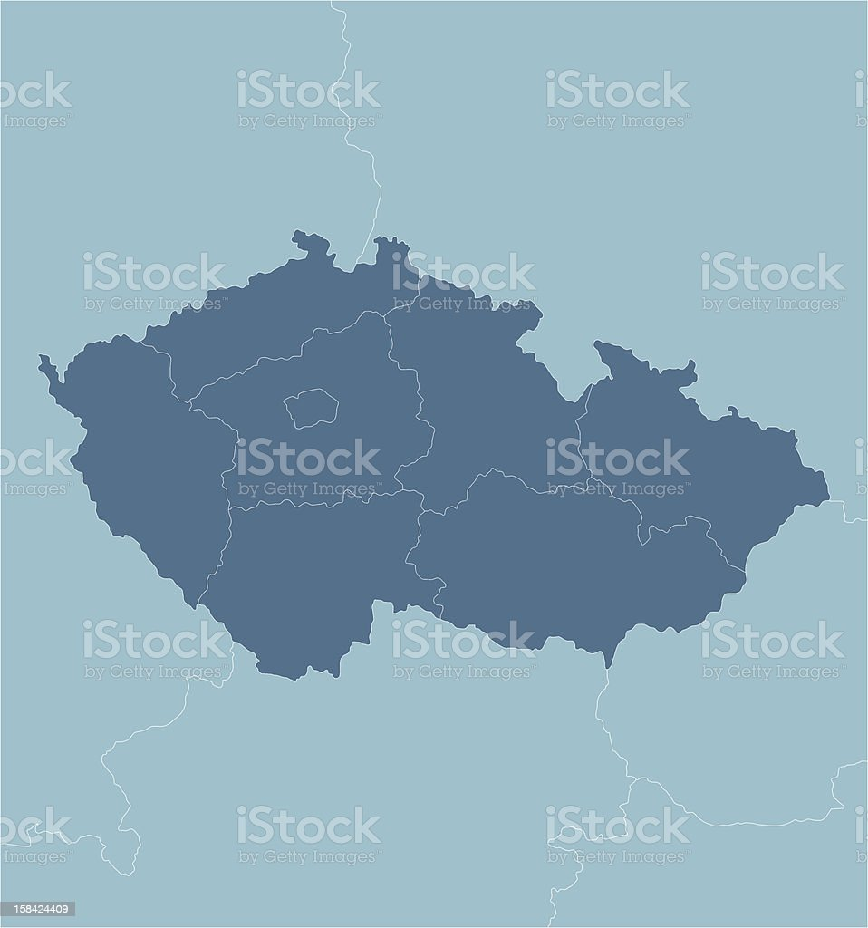 Czech Republic vector art illustration