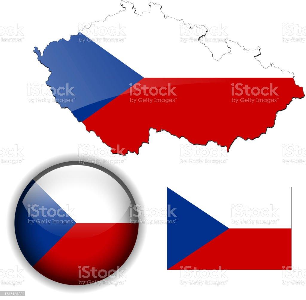 Czech Set royalty-free stock vector art