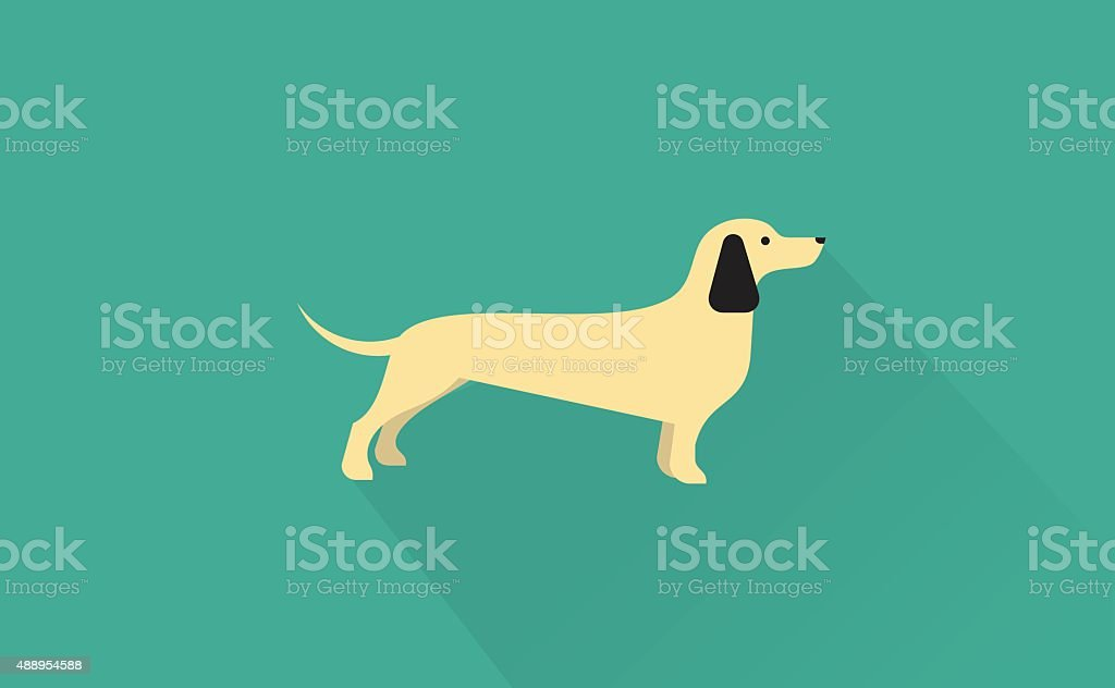 dachshund icon vector art illustration