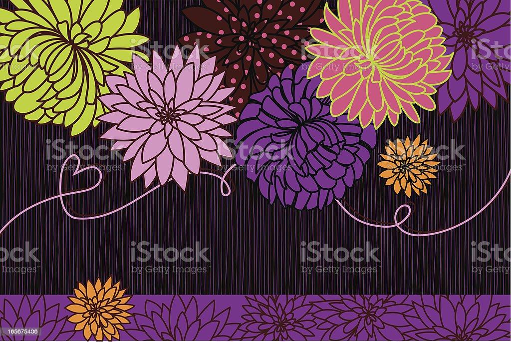 Dahlias Holiday Card royalty-free stock vector art