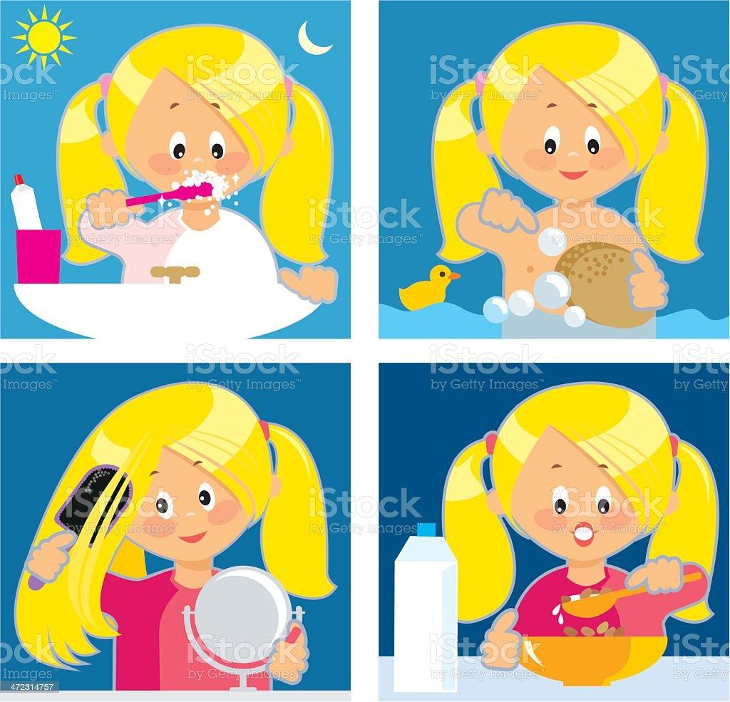 Daily Hygiene royalty-free stock vector art