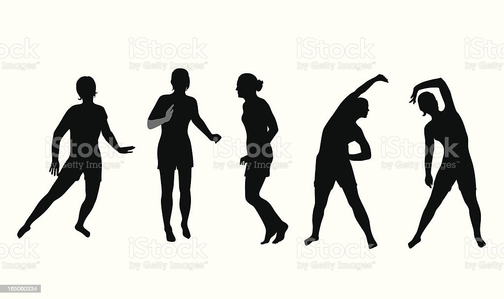 Daily Workout Vector Silhouette royalty-free stock vector art