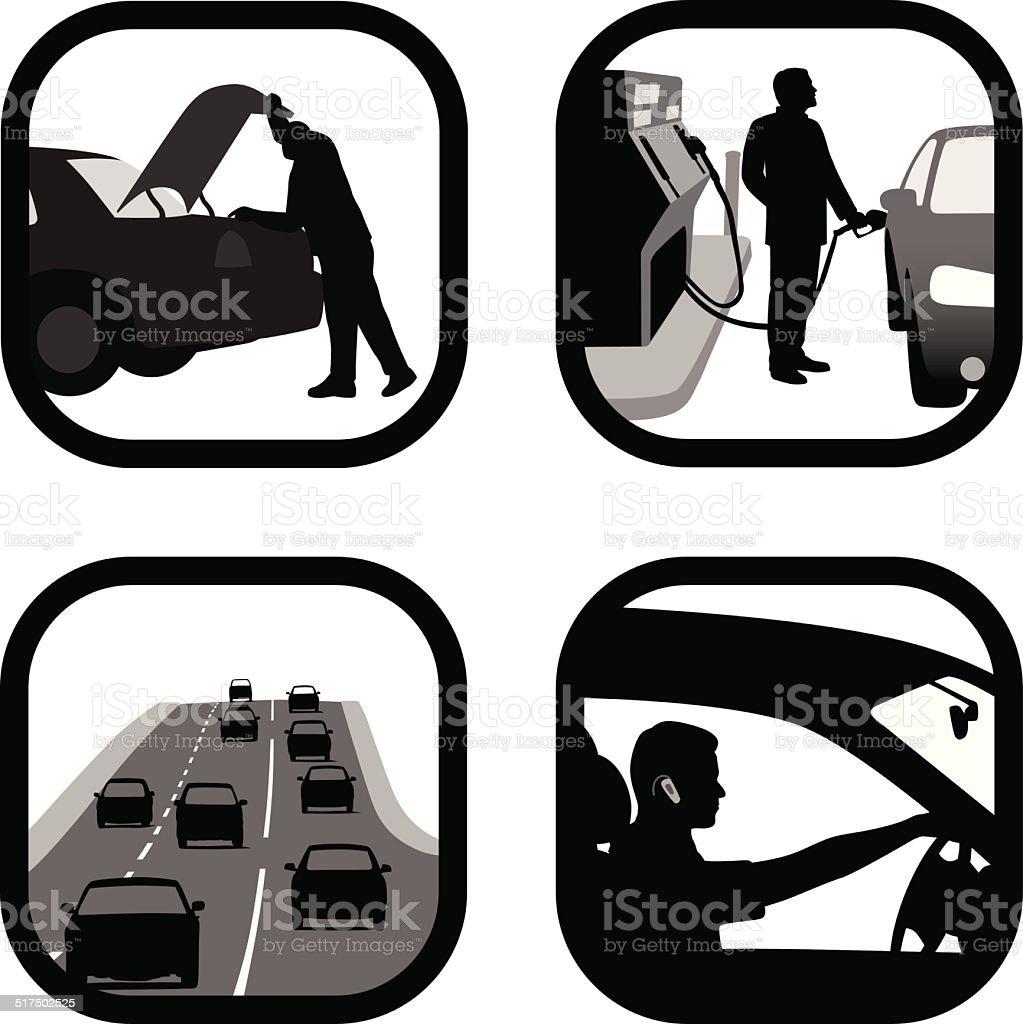 DailyDrive vector art illustration