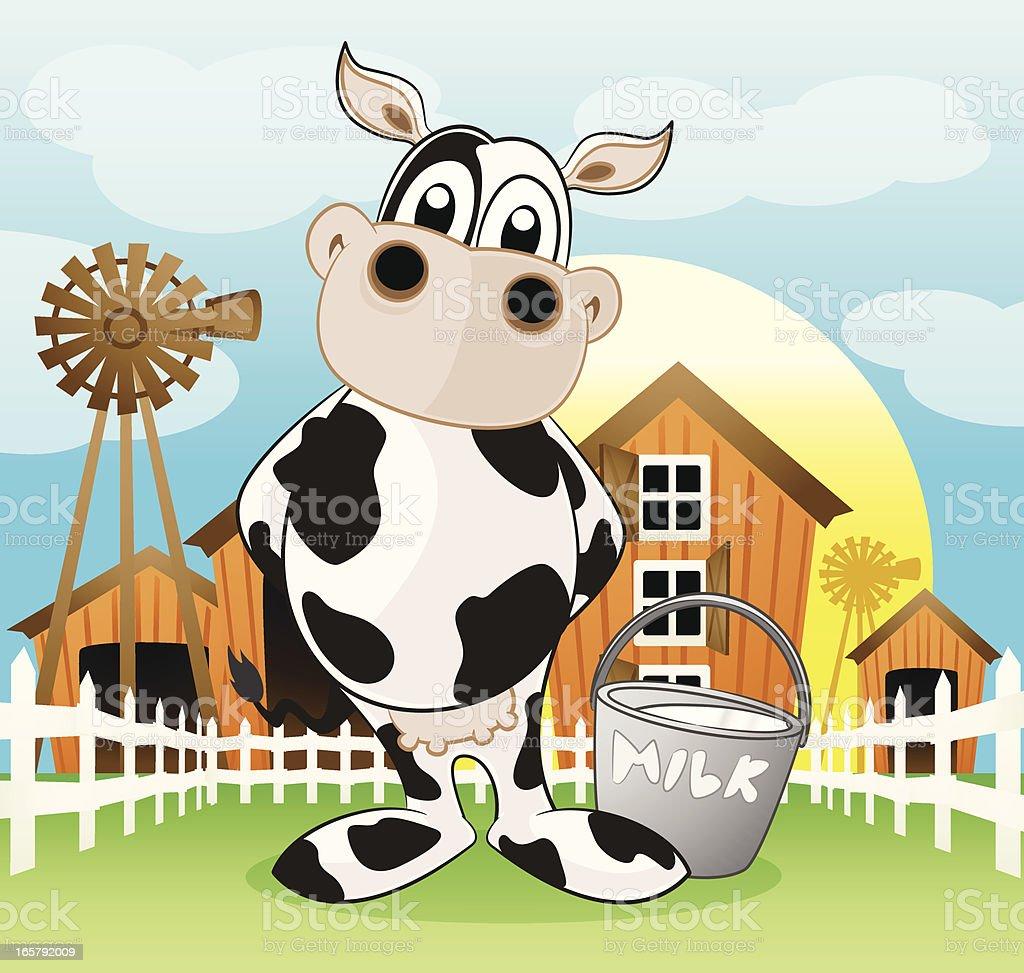 Dairy Cow Cartoon royalty-free stock vector art