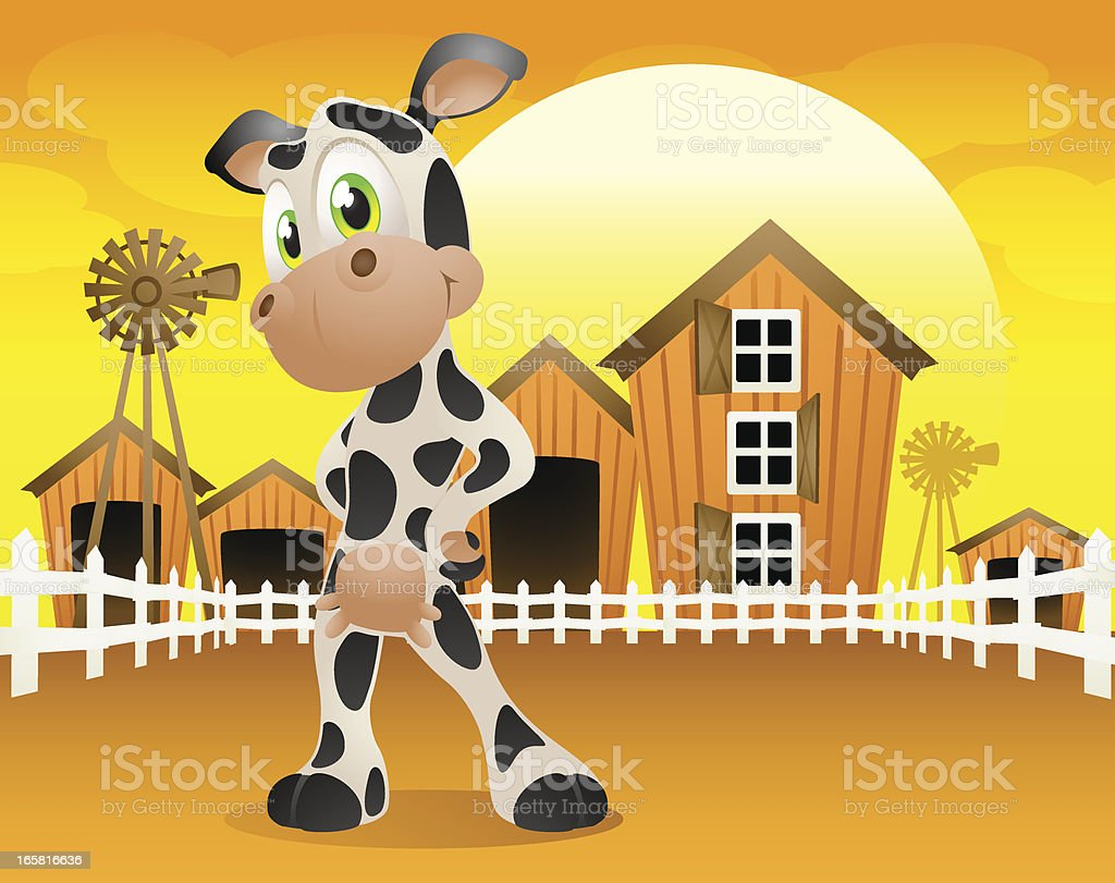 Dairy Cow on the farm! royalty-free stock vector art