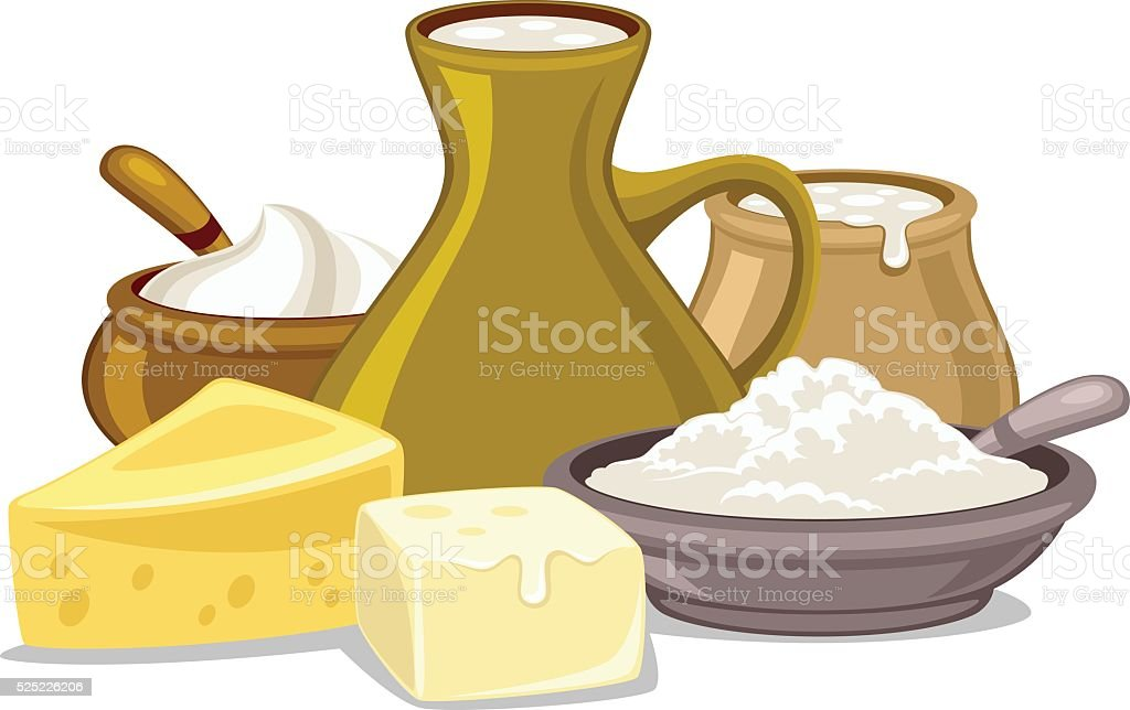 Dairy food vector art illustration