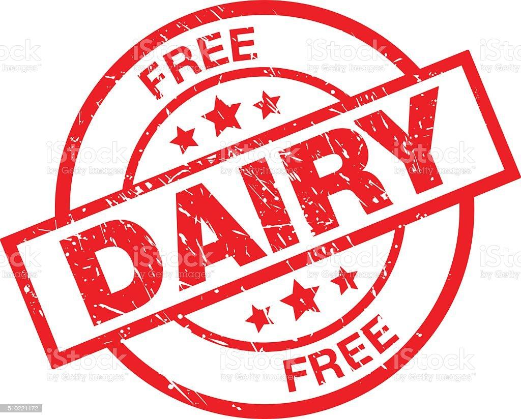 Dairy Free vector art illustration