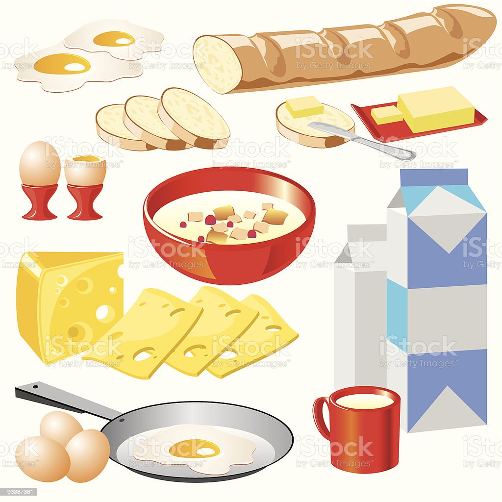dairy products royalty-free stock vector art