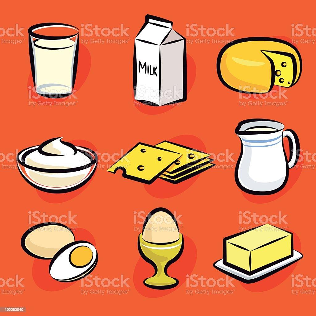 dairy vector art illustration