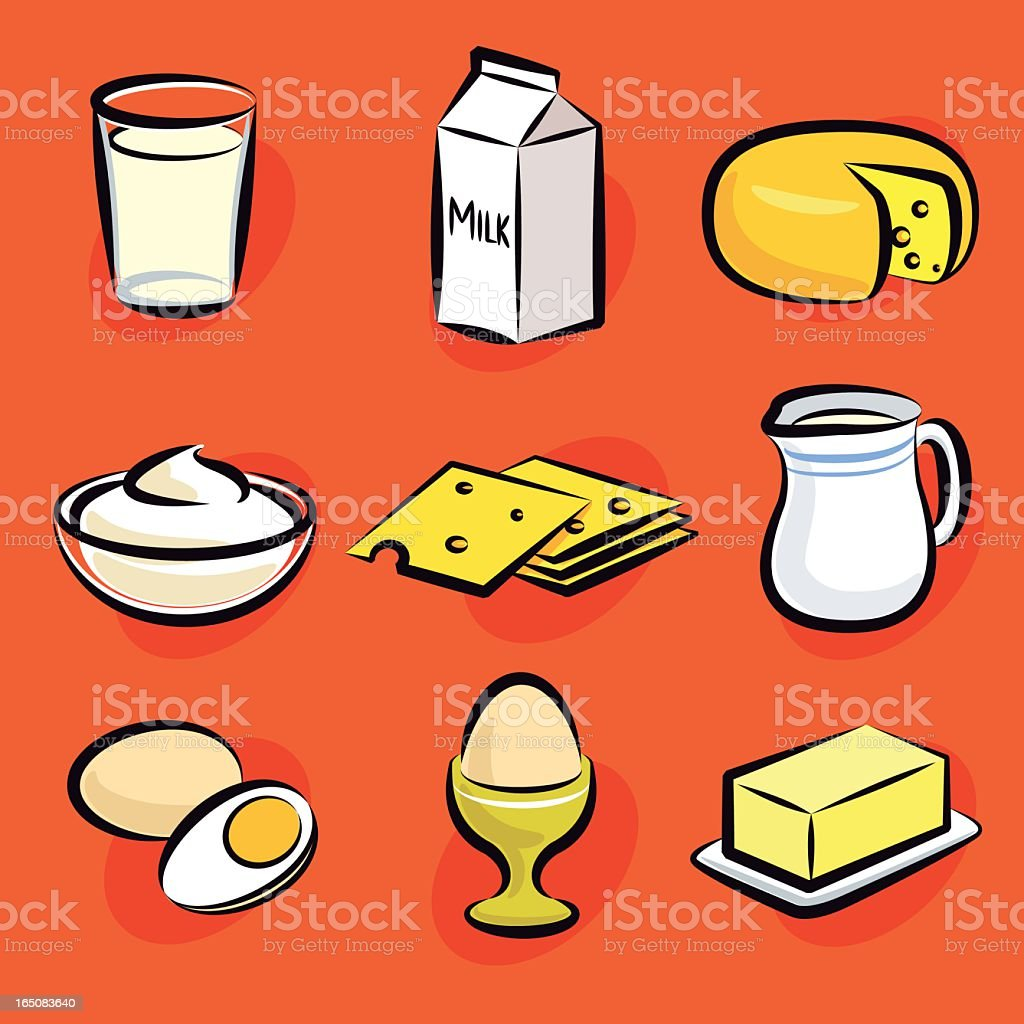 dairy vector art illustration