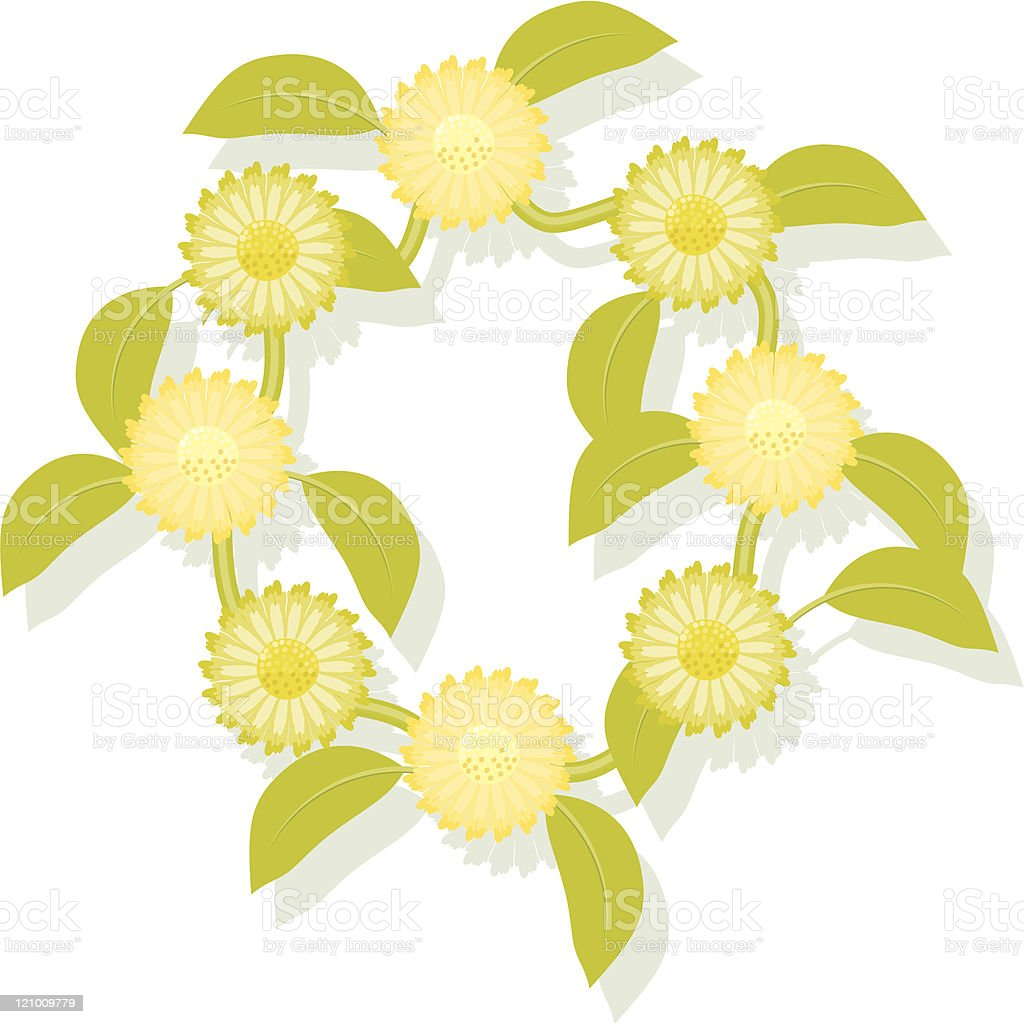 Daisy Chain vector art illustration