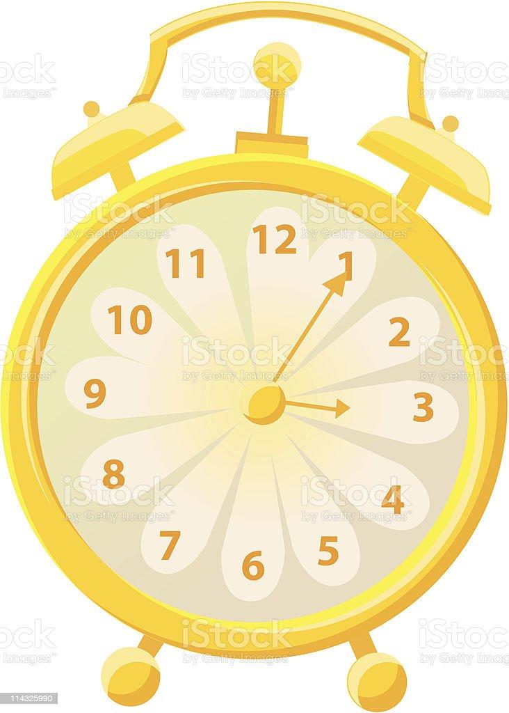 Daisy Clock vector art illustration