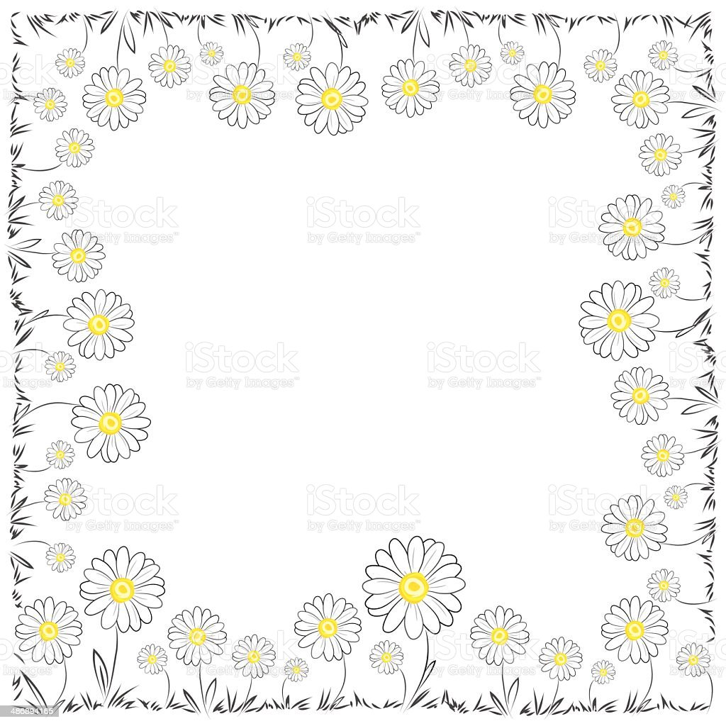 Daisy Frame vector art illustration