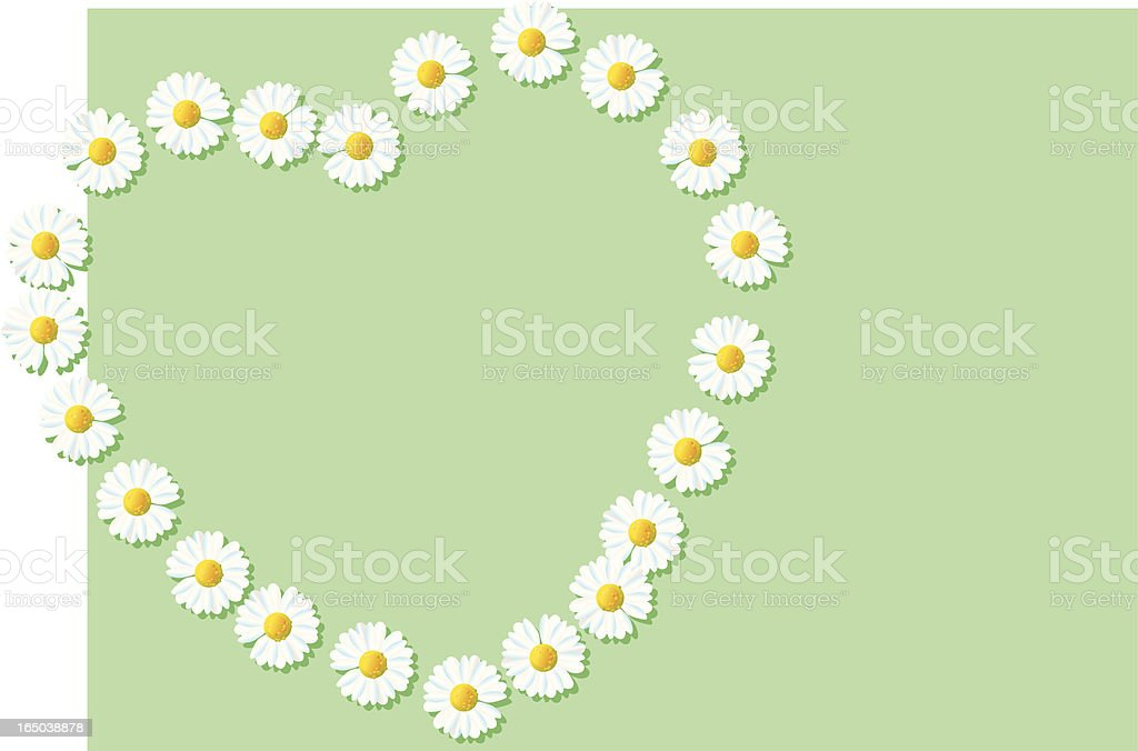 Daisy Heart vector art illustration