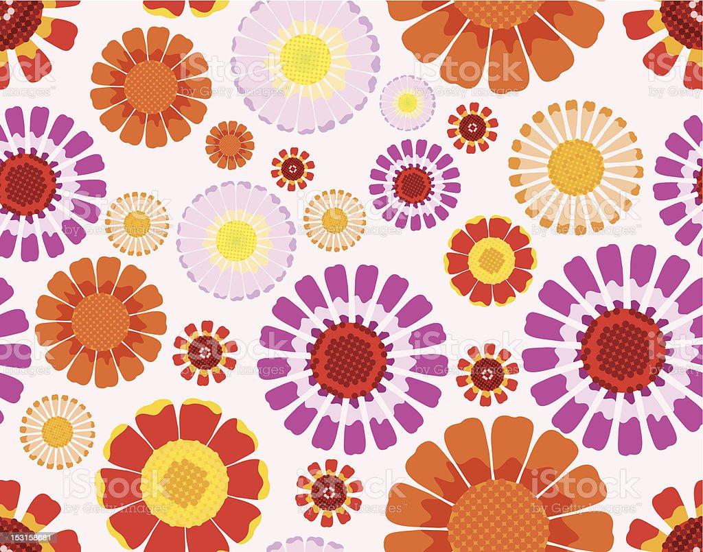 Daisy seamless background vector art illustration