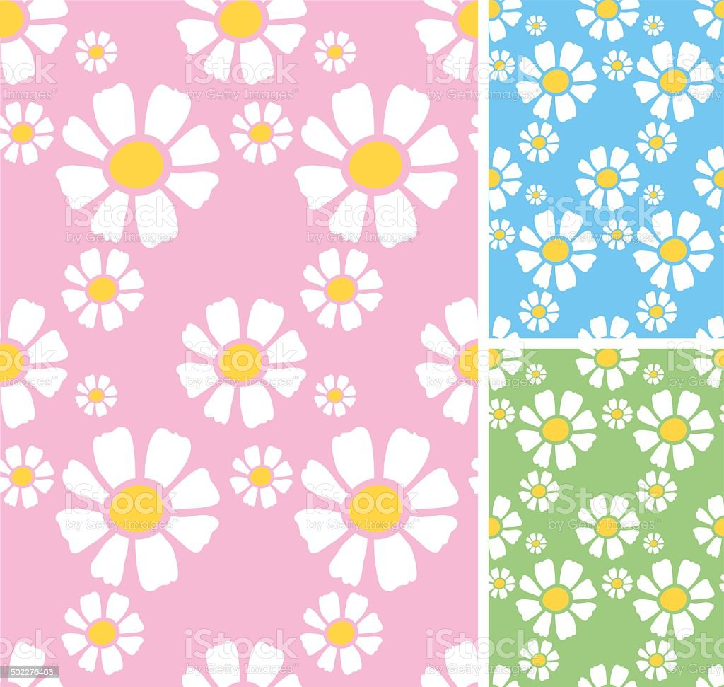 Daisy seamless pattern royalty-free stock vector art