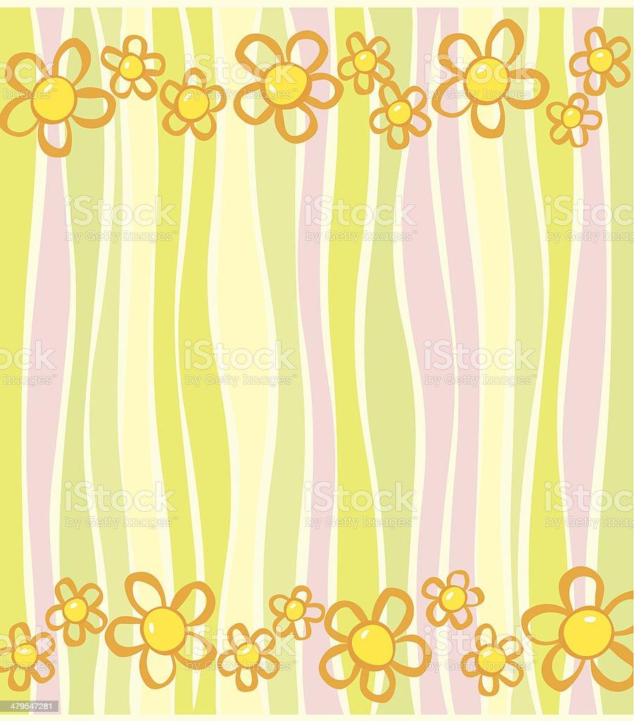 Daisy Stripes royalty-free stock vector art