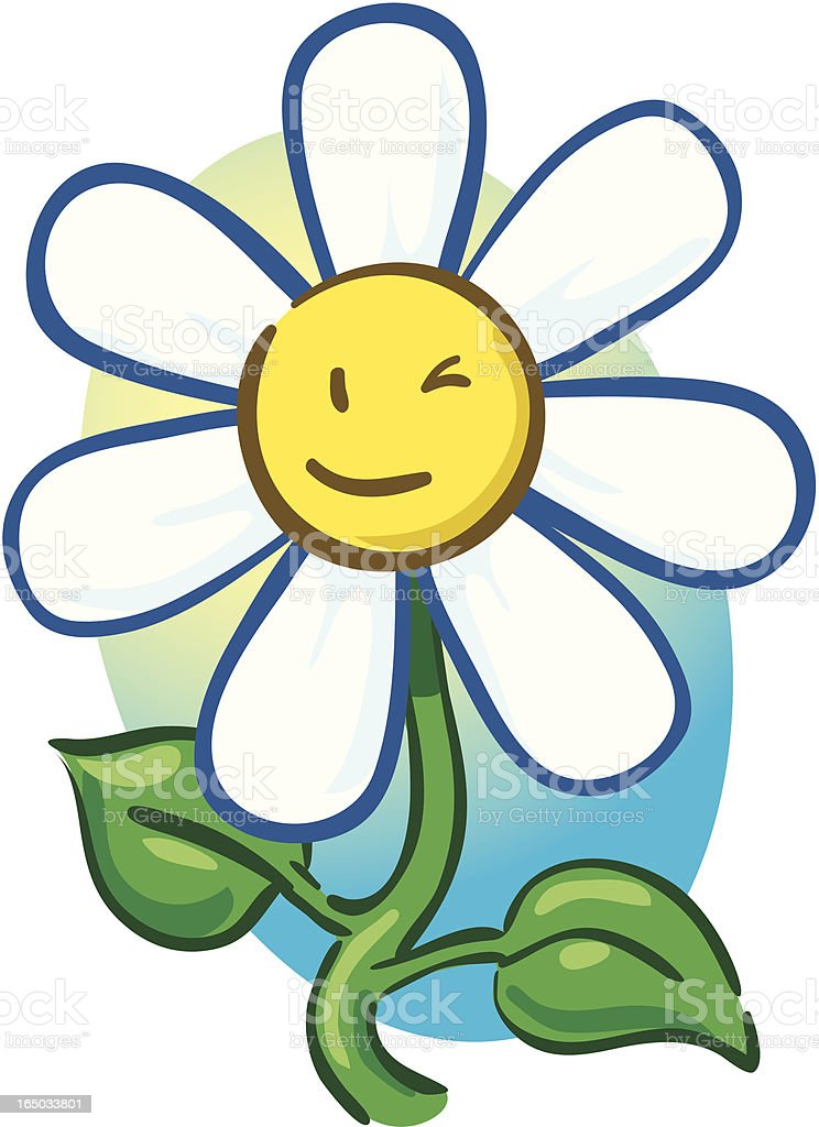Daisy Wink royalty-free stock vector art