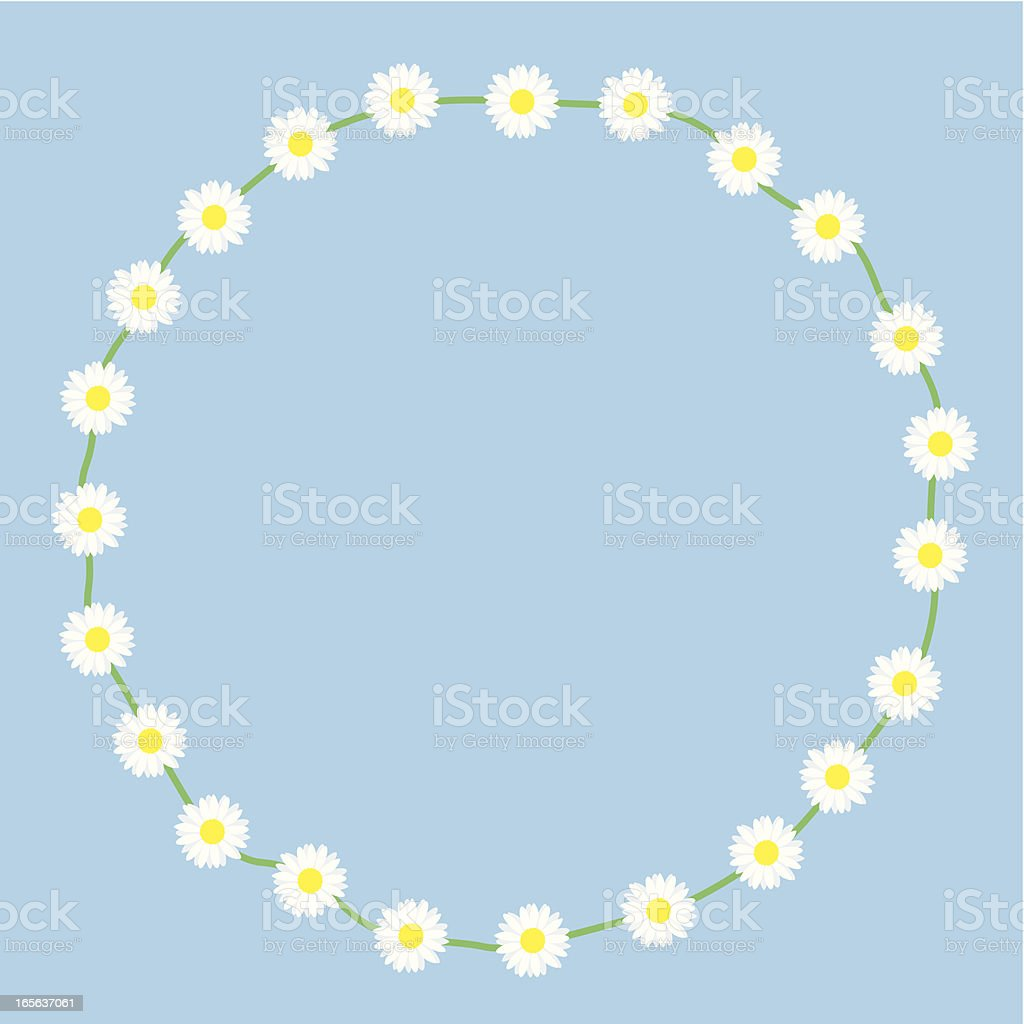 Daisychain Circle vector art illustration